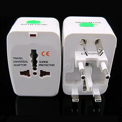 EU AU UK US To Universal World Travel AC Power Plug Convertor Adapter Socket AS