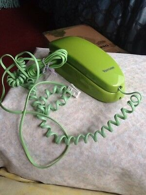 Lime Green Vintage Ventura Plug In Phone With Socket And Chord