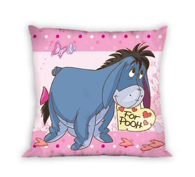 DISNEY WINNIE THE POOH Eeyore Piglet pink cushion cover 40x40cm 100% cotton case