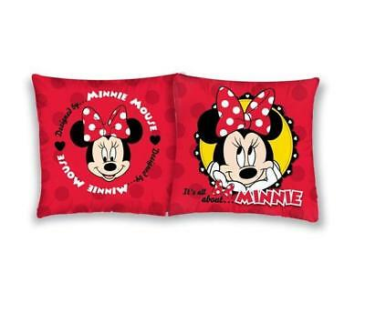 NEW Disney MINNIE Mouse cute red cushion cover 40x40cm 100% COTTON