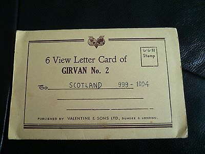 Valentine & Sons  Folding View Letter Card of Girvan Scotland  6 views