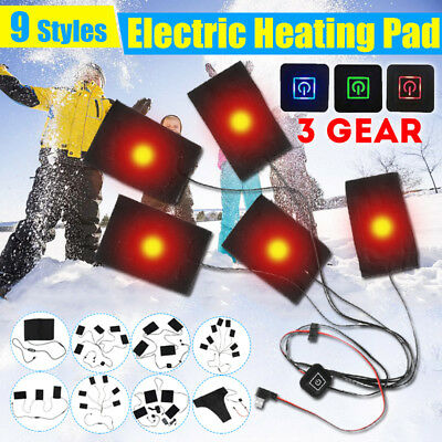 13W USB Electric Heating Pads Vest Thermal Vest Heated Jacket Warm Winter UK
