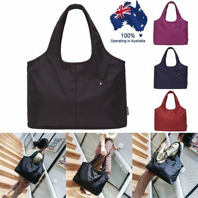 Capacity Oxford Shoulder Bags Waterproof Shopping Tote Lightweight Pouch BO