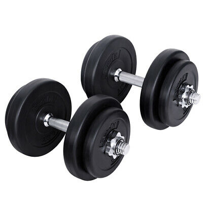 20kg Exercise Dumbbell Set Home Gym Workout Fitness Training Adjustable Weights