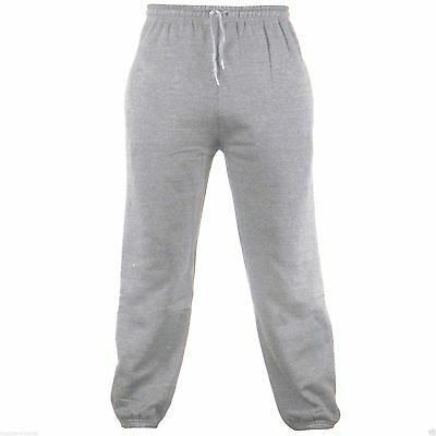 Grey Adult Fleece Joggers Jogging Tracksuit Bottoms Elasticated Cuffed Trousers