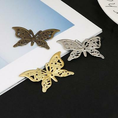 20pcs Butterfly Filigree Wraps Connectors Metal Crafts For Jewelry Making