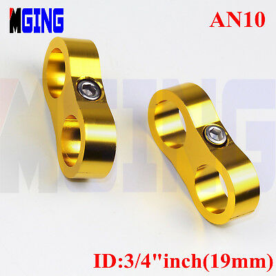 AN -10 AN10 19mm Hose Separator Wire Clamp Clip Fastener Fittings Adapter Golden