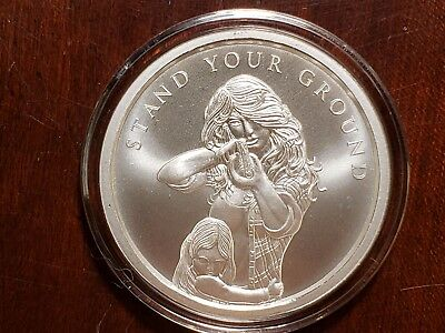 2018 Silver Shield Stand Your Ground 1 oz Silver Round BU Minimintage