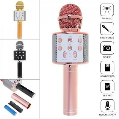 Wireless Bluetooth Karaoke Microphone HIFI Speaker Handheld Mic USB Player KTV