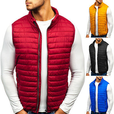 BOLF Vests Gilet Waistcoat Bodywarmer Jacket Warm Quilted Puffer Mens 4D4 Casual