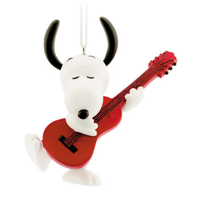 Peanuts Charlie Brown Hallmark Ornament - Snoopy with Guitar - New In Box