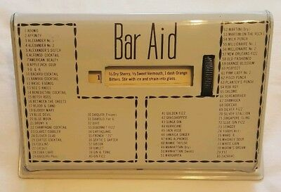 VTG 1950's Bar Aid Cocktail Mixed Drink Recipe Guide White Metal ~80 Recipes~