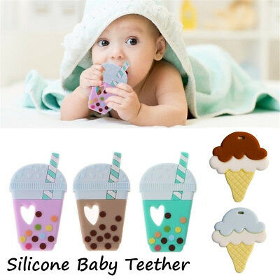 Ice Cream Silicone Baby Teether Pendant Teething Necklace Nursing Jewelry Sale!