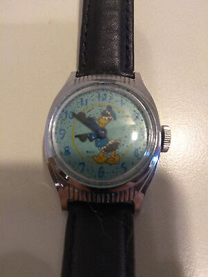 40s 50s Vintage Donald Duck Watch US Time Mickey Mouse Disney Birthday Series