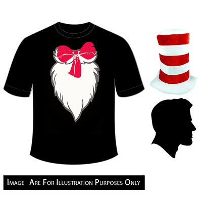 Gloves 3Pcs Set Seuss Book Week Day Adult Cat in the Hat Printed Shirt+Hat Dr