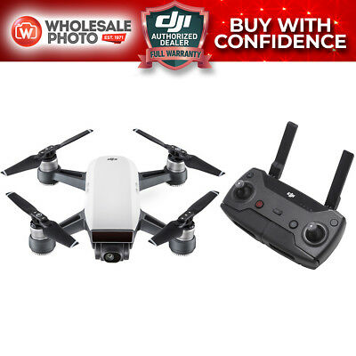 DJI Spark Quadcopter (Alpine White) with Remote Controller - Buy W/ Confidence