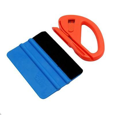 2in1 Felt Edge Wrapping Squeegee Razor Tool Cutter Car Wrap Vinyl Tools Kit MA