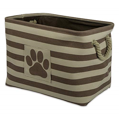 """DII Bone Dry Large Rectangle Pet Toy and Accessory Storage Bin, 18x12x15"""", for"""