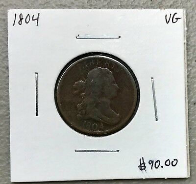 1804 Draped Bust Half Cent ~ Very Good Condition! C928