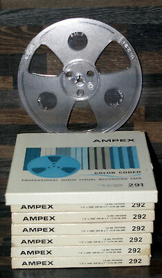 """Empty AMPEX Tape 7"""" Reel Very Good Condition Price One Reel Boxed Post Discounts"""