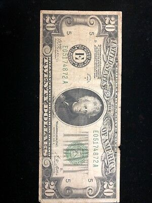 1928-A $20 Richmond, Va Federal Reserve Note Gold Note ~ Vg Condition! Nr!
