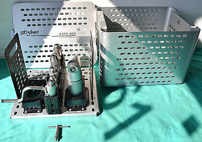 Stryker System 5 Sagittal Saw 4208 with Hanpieces 4102-452 Sterilization Case