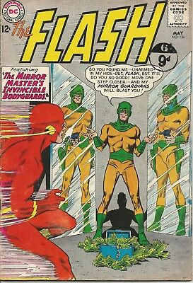 FLASH The Mirror Master's Invincible Bodyguards DC Comic No. 136 May 1963