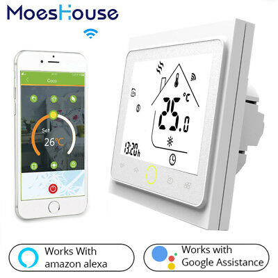 WiFi Smart Thermostat Controller for Water Gas Boiler Works Alexa Google Home BR