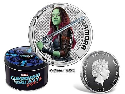 2017 Marvel Guardians of Galaxy GAMORA Silver Proof Coin