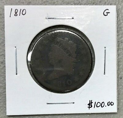 1810 U.s. Classic Head Large Cent ~ Good Condition! $2.95 Max Shipping! C941