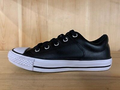 6d6a1b9c2d4638 CONVERSE ALL STAR low chuck taylor Leather 132174C Black Men US SZ 6 ...