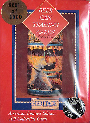 100 BEER CAN TRADING CARDS Complete 1993 Boxed Set SEALED Vintage ANTIQUE CANS