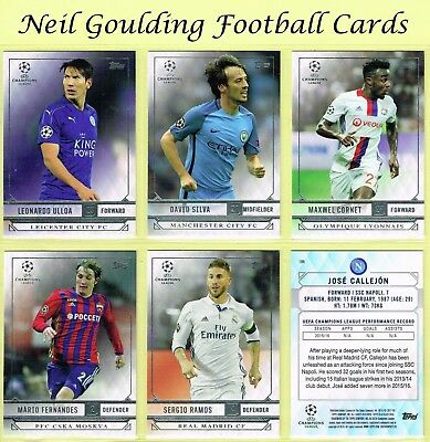 Topps Champions League SHOWCASE 2016-2017 ☆ Football Base Cards ☆ #101 to #200