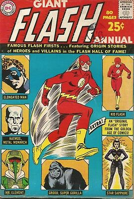 Giant FLASH Annual 80 pages DC Comic No. 1 1963
