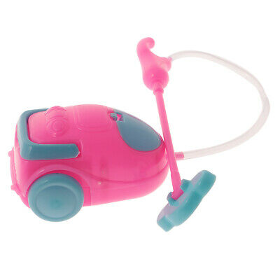 1/6 Dollhouse Cleaning Tools Mini Plastic Vacuum Cleaner Toy for Doll