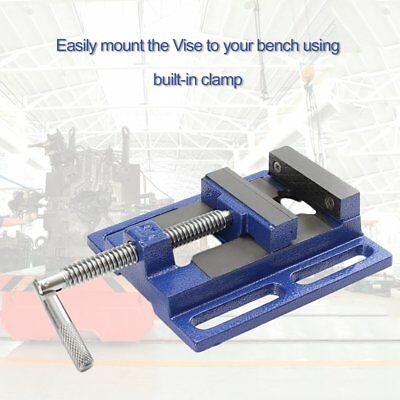High Precision Clamp-on Table Flat Bench Vise Milling Machine Bench Drill Vise#L