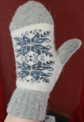 MITTENS winter warm thick 100% SHEEP WOOL HOME KNITTED