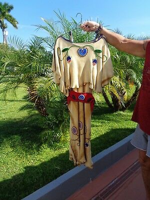 Native Amer. Dress Regalia Leather Beadwork Museum Quality Sz. Med. Traditional