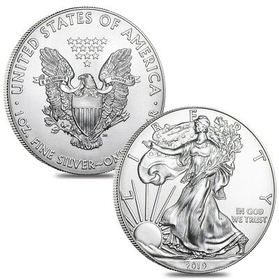 Lot of 2 - 2019 1 oz Silver American Eagle $1 Coin BU