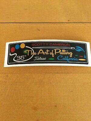 """Scotty Cameron California """"The Art of Putting"""" Shaft Band for 35"""" Putters New!"""
