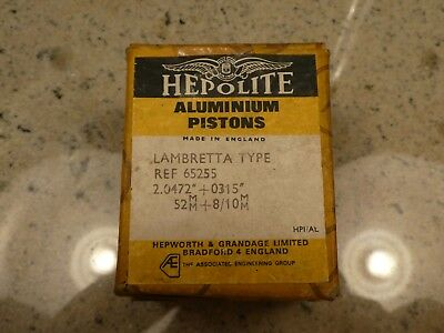 Hepolite Lambretta 52mm Piston - New Old Stock - Boxed