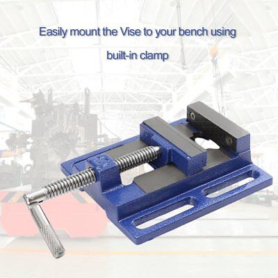 High Precision Clamp-on Table Flat Bench Vise Milling Machine Bench Drill Vise#I