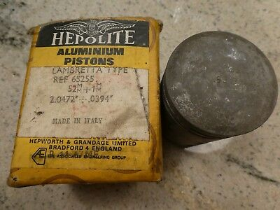 Hepolite (Borgo) Lambretta 52mm Piston - New Old Stock - Boxed