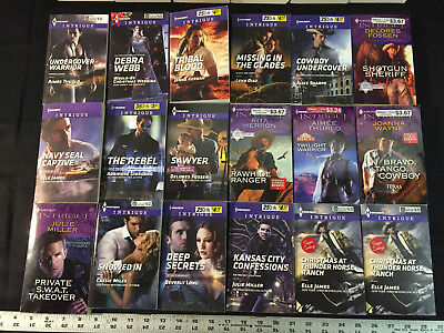Lot of 125 Harlequin Intrigue Romance Suspense Novels, Shivers, Shadow Agents PB