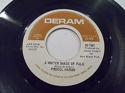 Procol Harum A Whiter Shade Of Pale / Lime Street Blues 45 1967 Vinyl Record