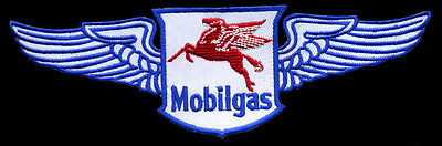 Mobil Patch with wings flying gasoline service station Mobilgas oil Pegasus
