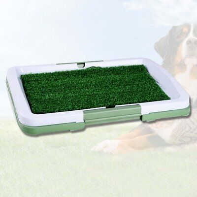 Dog Pee Pads Potty Puppy Training Grass Indoor Potty Toilet tray Pet Mat Tray QW
