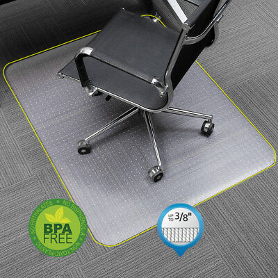 Non Slip Pvc Home Office Chair Floor Mat Cover Carpet Protector 48 X 30