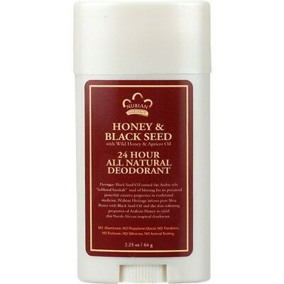 Nubian Heritage Deodorant - All Natural - 24 Hour - Honey and Black Seed - with