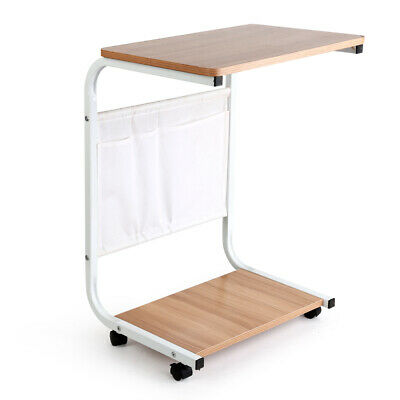 Portable Mobile Laptop Desk Home Office Wood Furniture With Adjustable Height